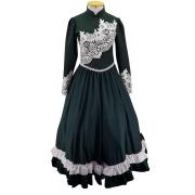 Vestido de Prenda Juvenil 14 Anos Criações Darvami Verde Musgo