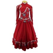 Vestido de Prenda Juvenil 14 Anos Criações Darvami Vermelho