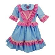 Vestido de Prenda RN Criações Darvami Azul
