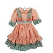 Vestido de Prenda RN Criações Darvami Salmão