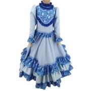 Vestido Infantil Prenda Azul 06 Criações Darvami