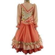 Vestido Infantil Prenda Laranja 04 Criações Darvami