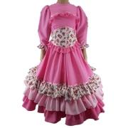 Vestido Infantil Prenda Rosa 04 Criações Darvami