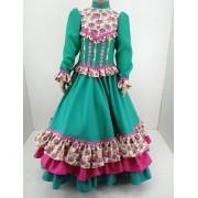 Vestido Infantil Prenda Verde 6 Criações Darvami