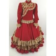 Vestido Infantil Prenda Vermelho 6 Criações Darvami