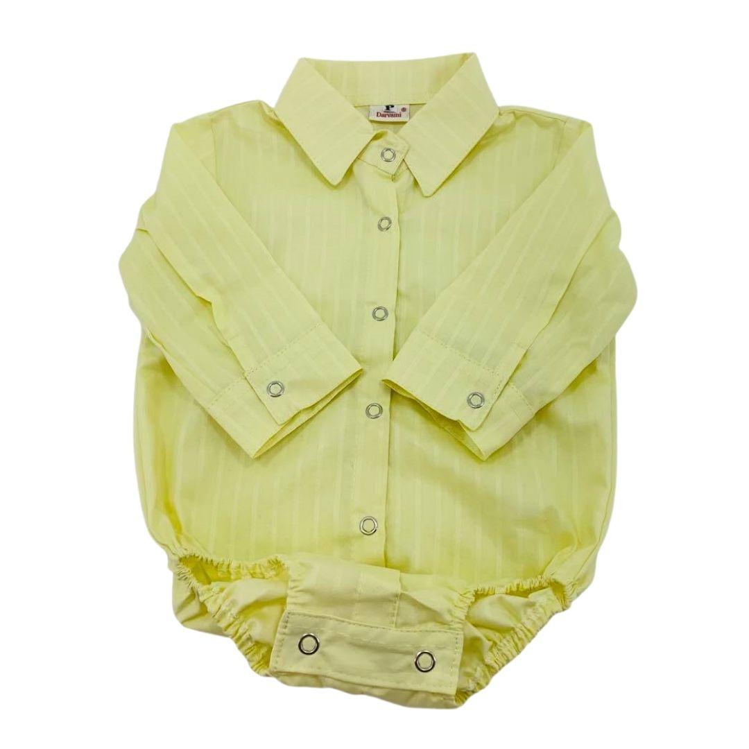 Body Infantil Giuseppe Kids Criações Darvami G Amarelo