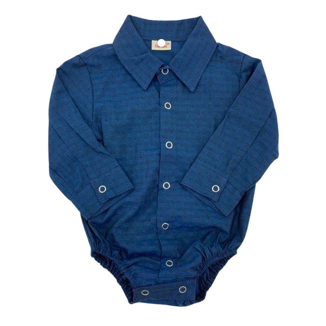 Body Infantil Giuseppe Kids Criações Darvami G Azul Marinho