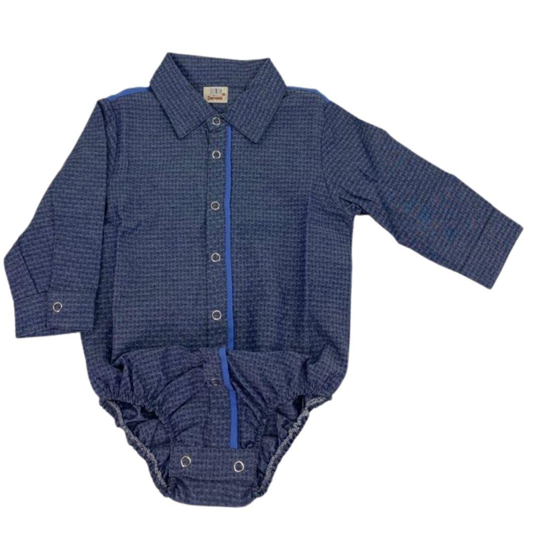 Body Infantil Giuseppe Kids Criações Darvami M Azul