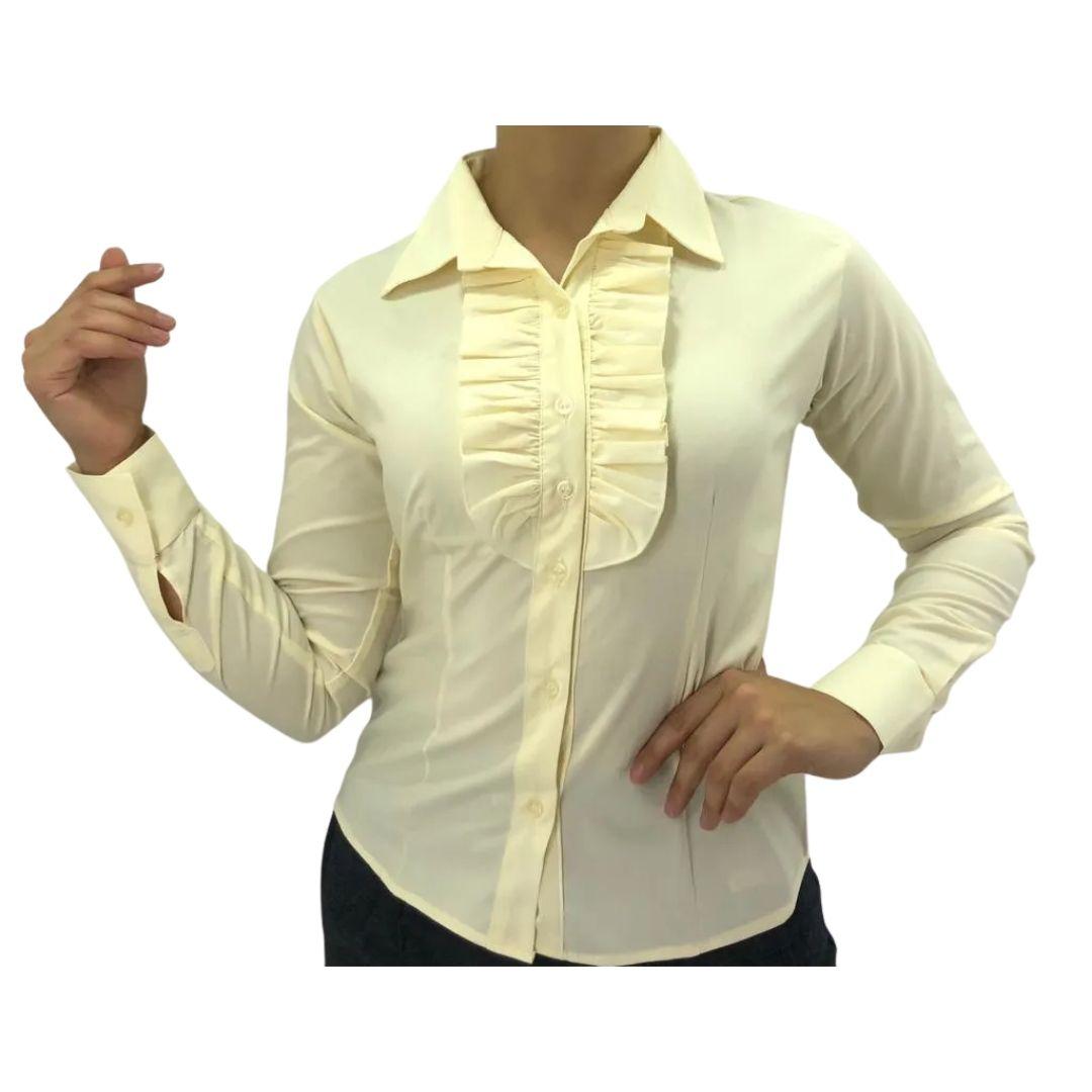 Camisa Feminina Babado Sentinela