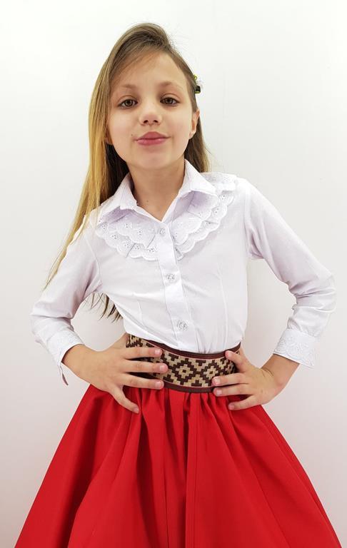 Camisa Feminina Infantil Babados Sentinela.