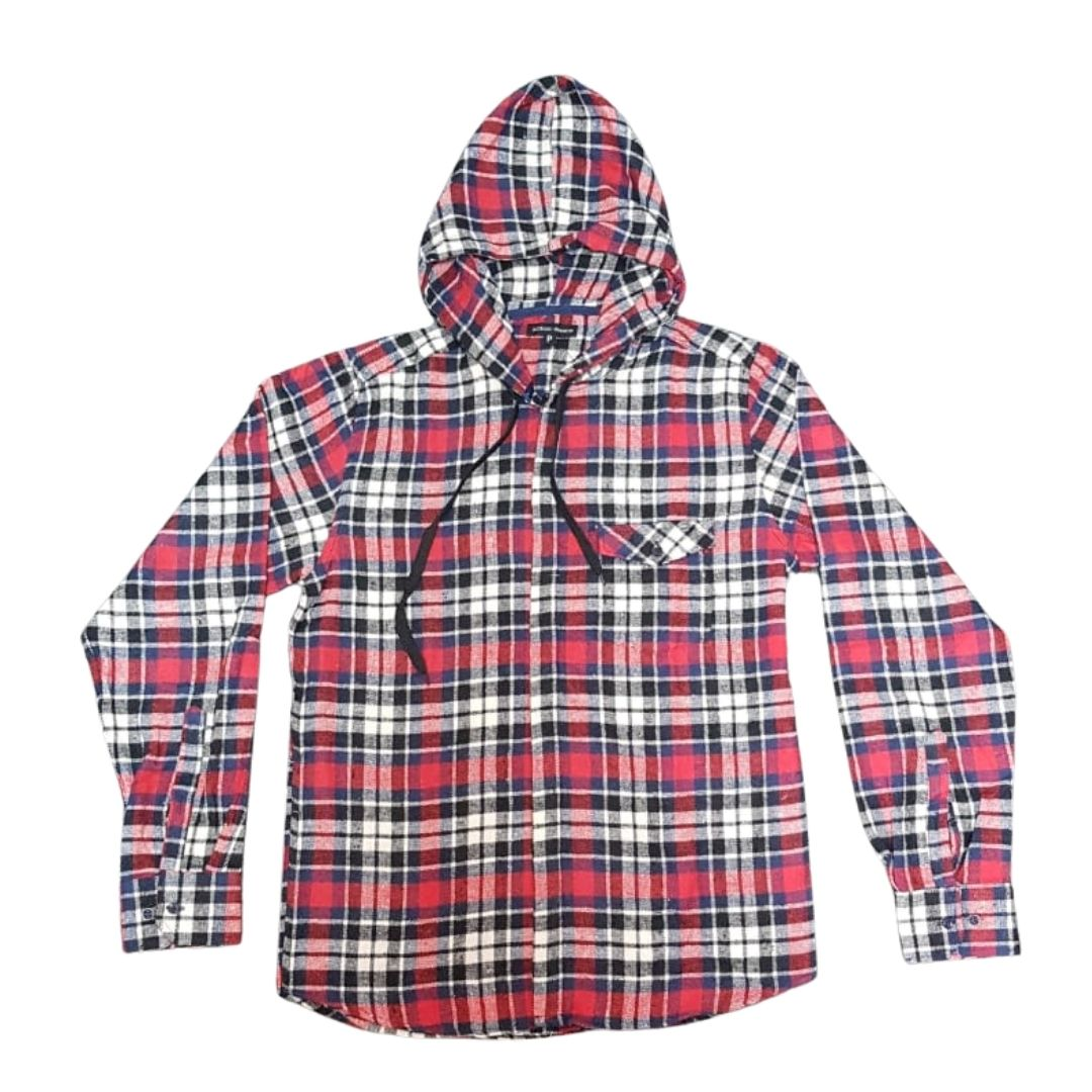 Camisa Flanela Xadrez C/Capuz