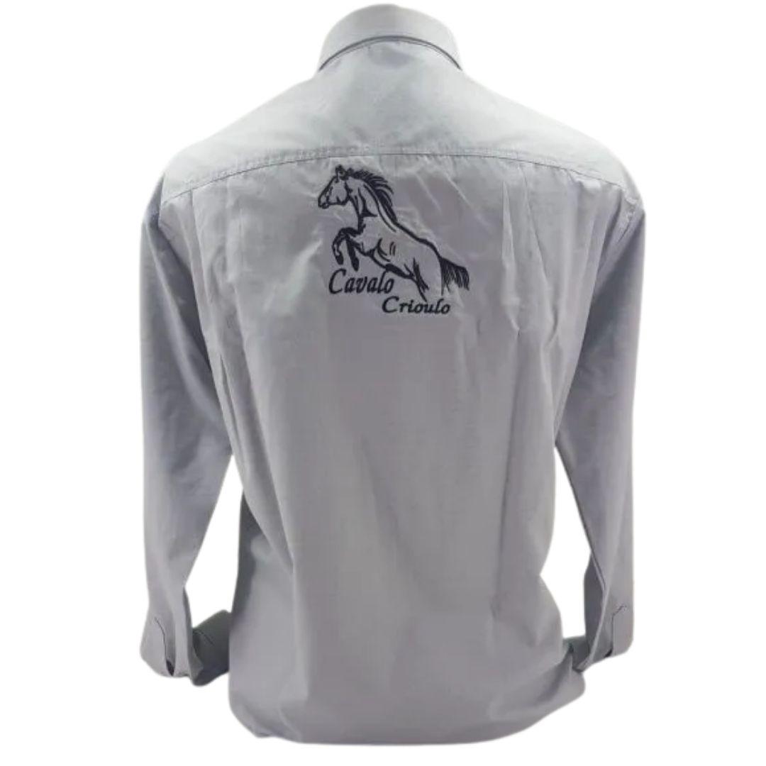 Camisa Masculina Gaúcho Darvami Bordada