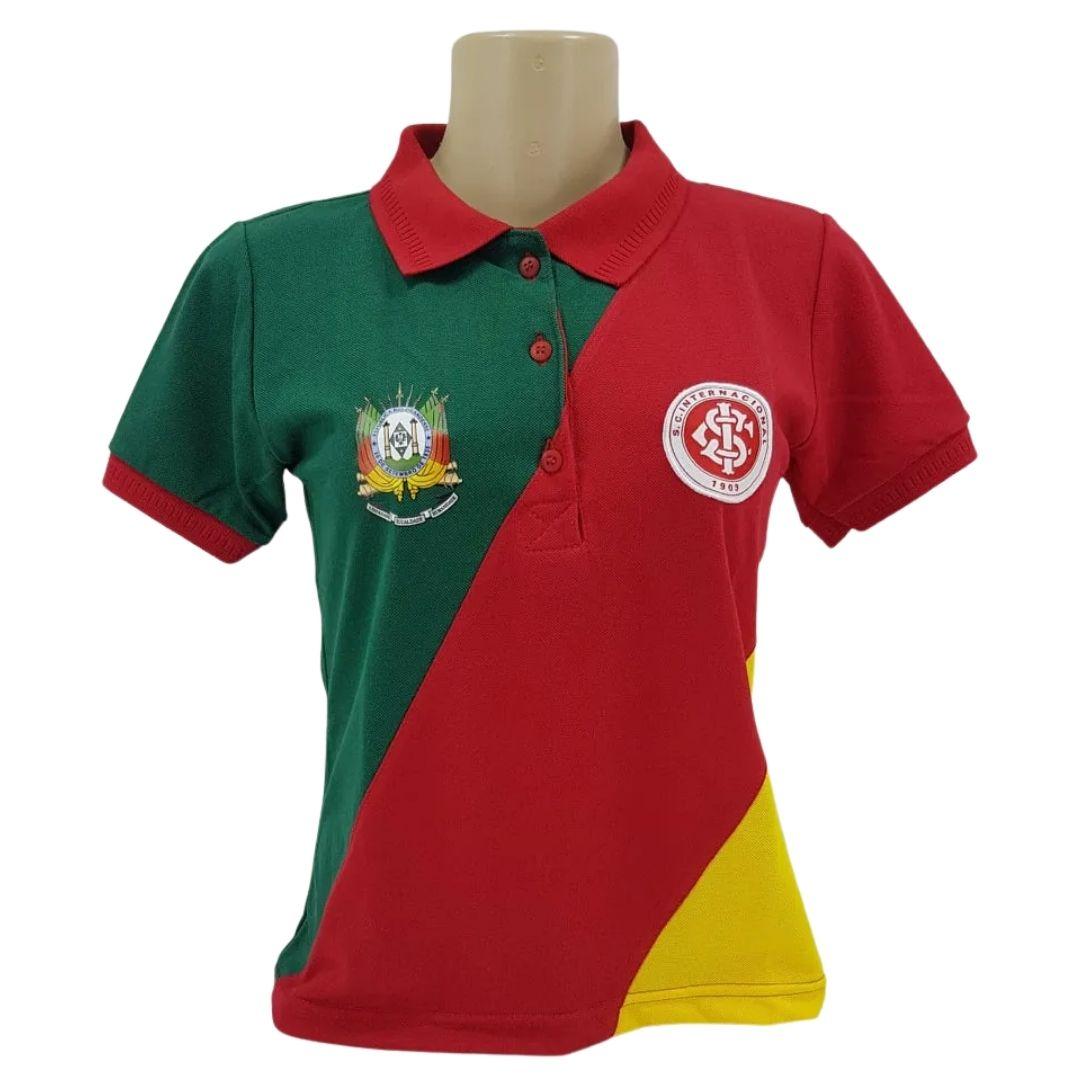 Camiseta Feminina Baby Look Polo Inter/Grêmio Oldoni