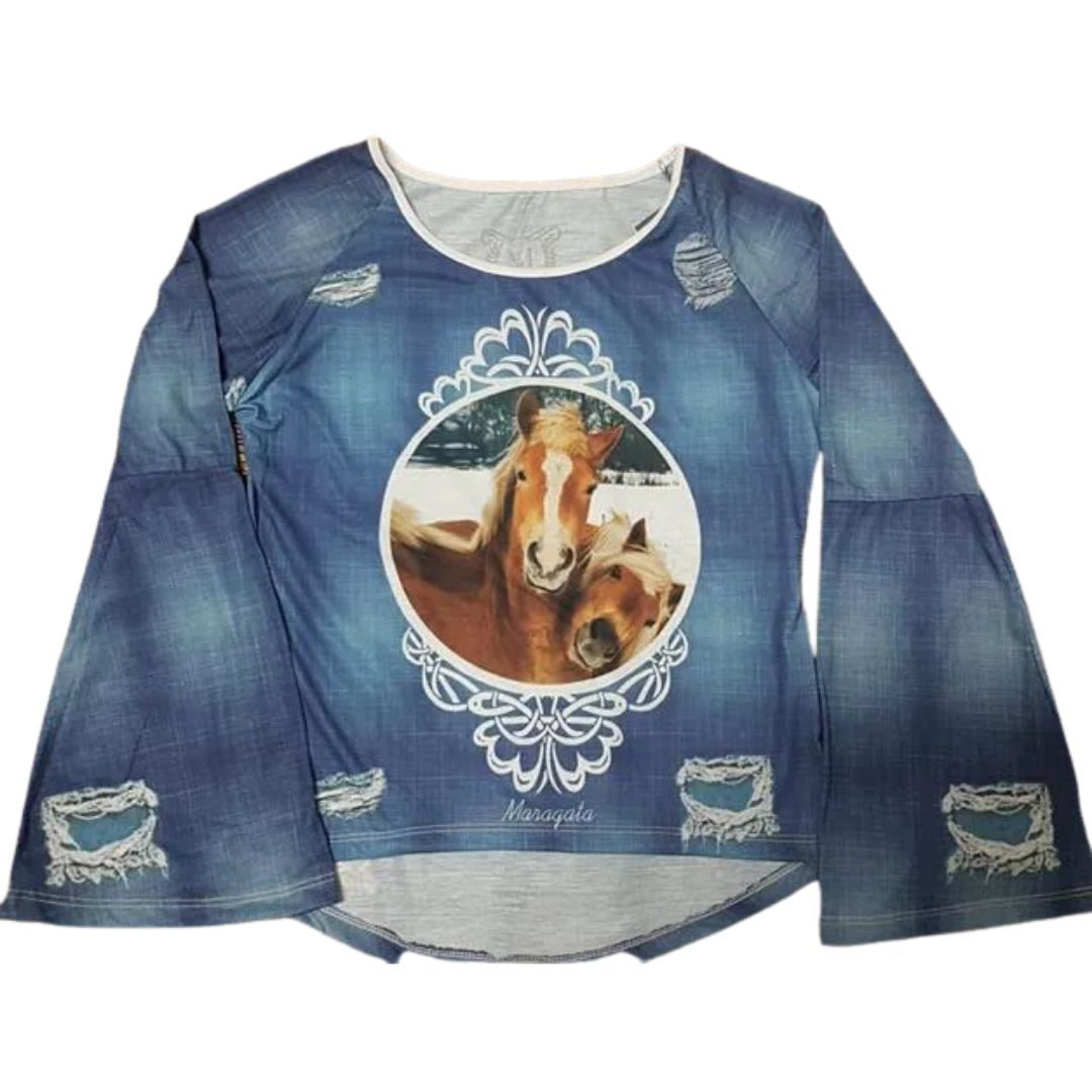 Camiseta Feminina Maragata Cavalo