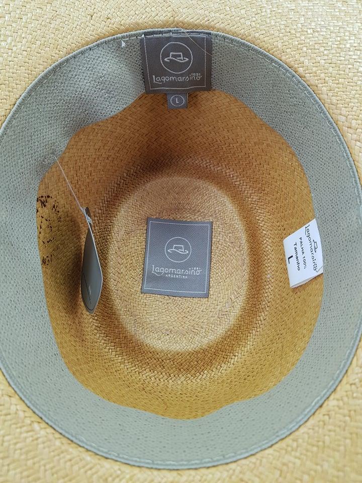 Chapéu Lagomarsino Palha Amarela Aba 10cm