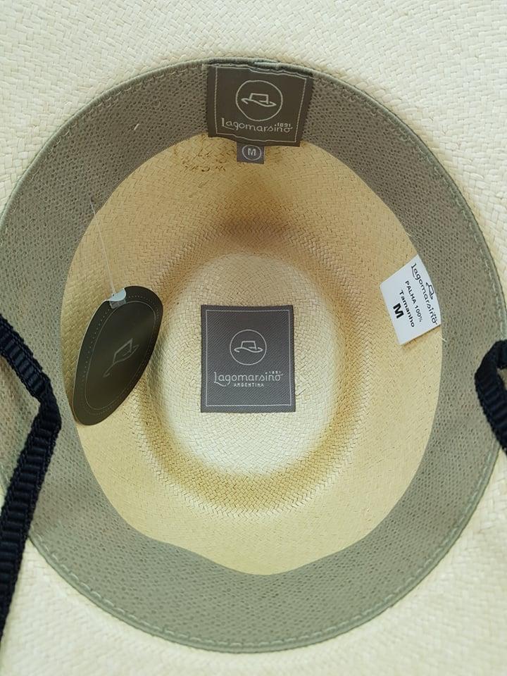 Chapéu Lagomarsino Palha Branca Aba 10cm