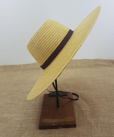 Chapéu Palha Rio Branco Aba 12cm