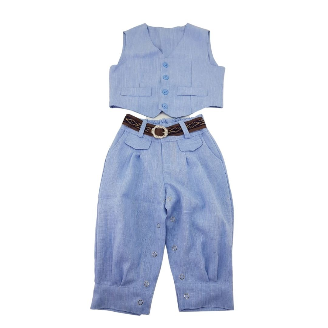 Conjunto Giuseppe Kids Criações Darvami G Azul