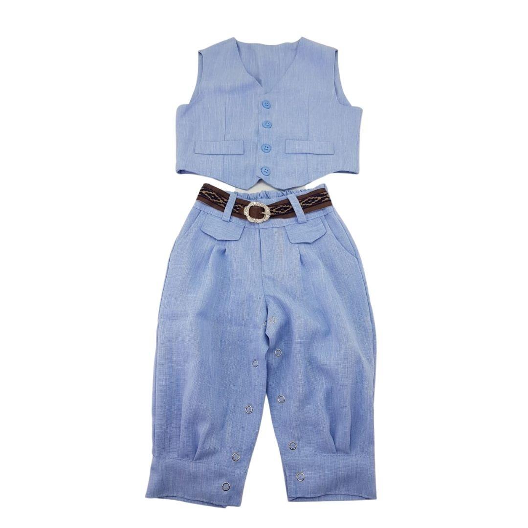 Conjunto Giuseppe Kids Criações Darvami M Azul