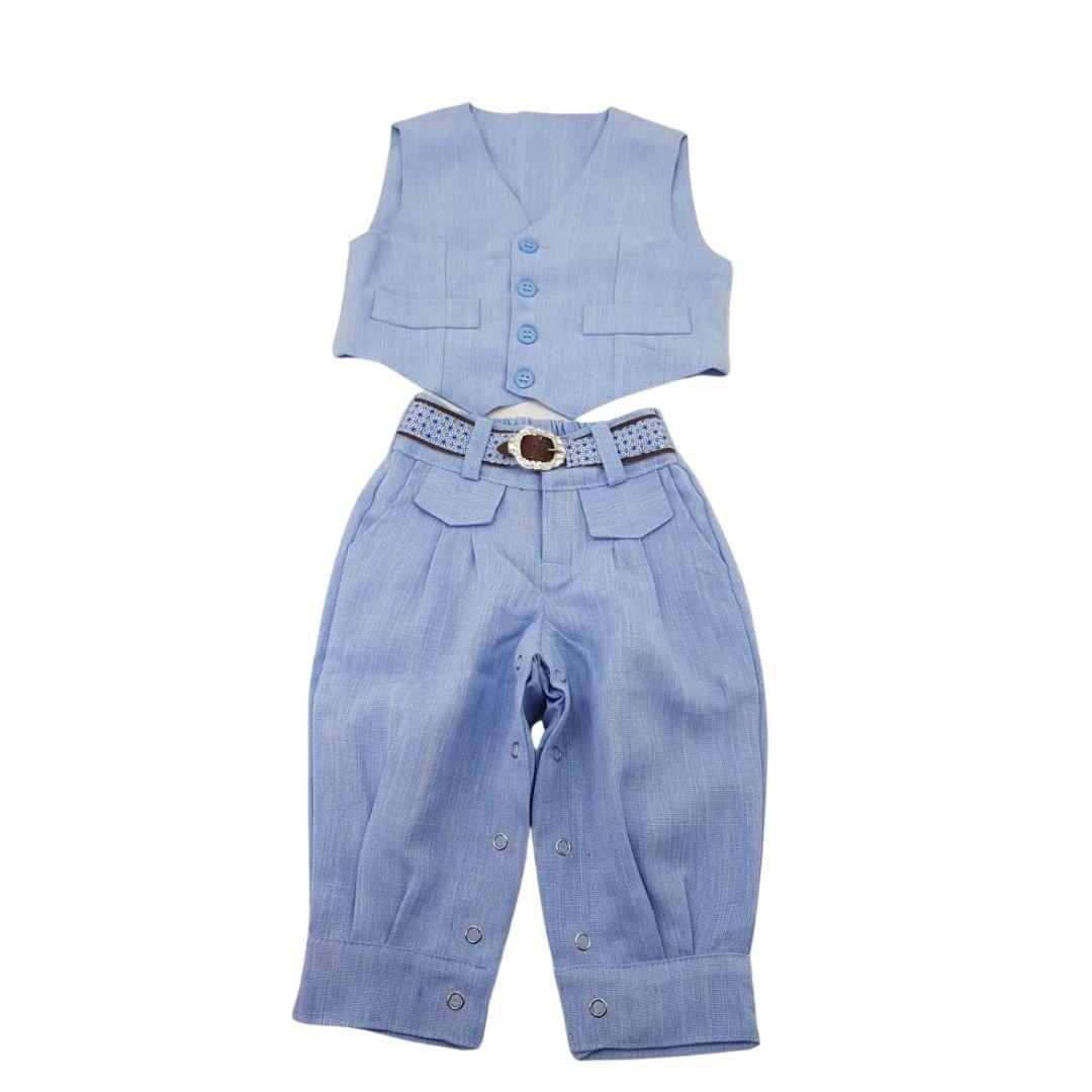 Conjunto Giuseppe Kids Criações Darvami P Azul