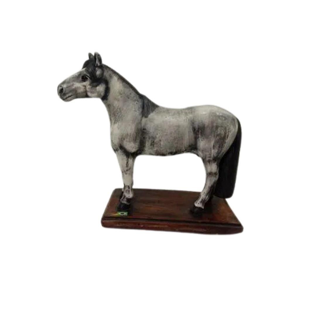 Estátua Cavalo Crioulo Gesso Médio