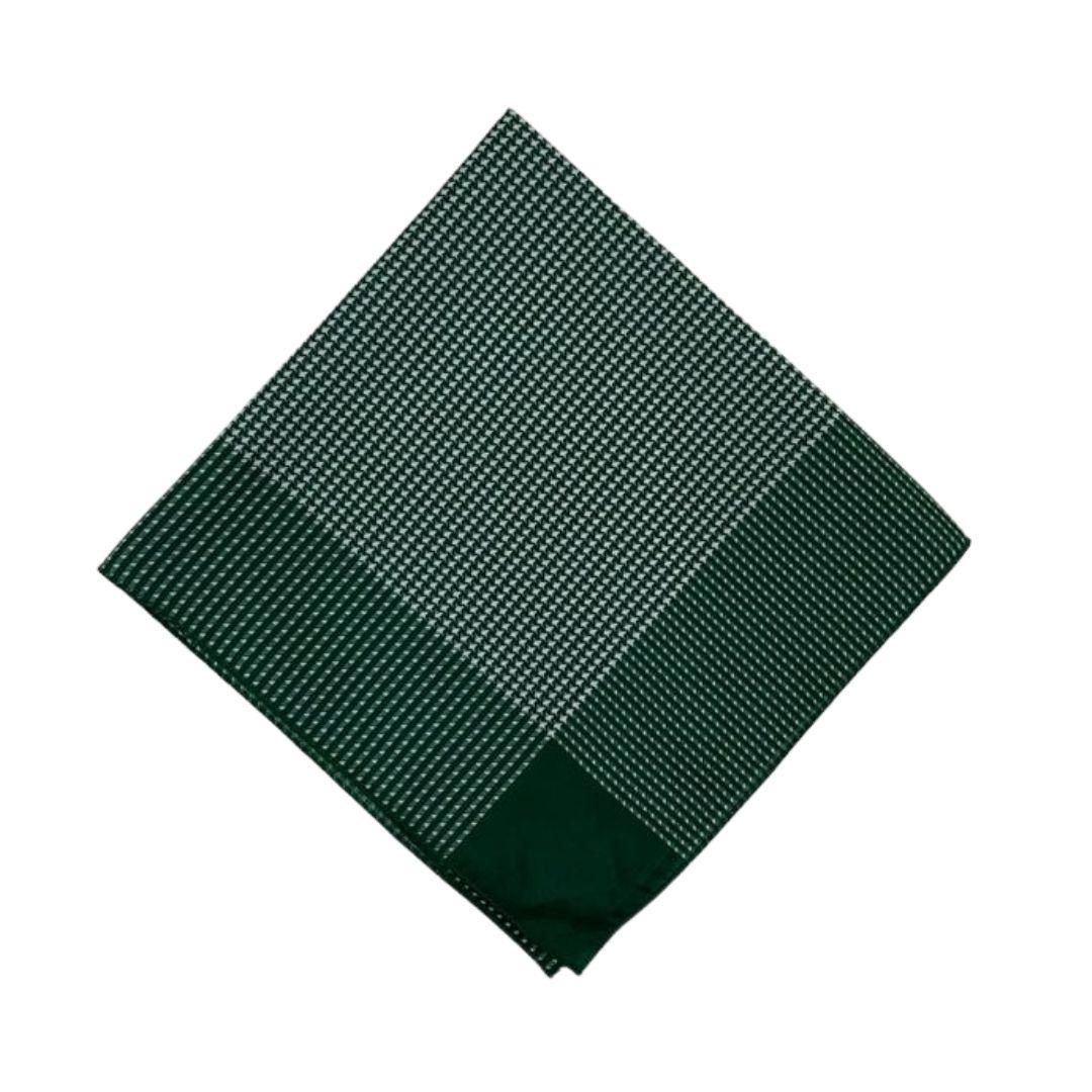 Lenço Carijó Semi Acetinado Grande Verde/Branco