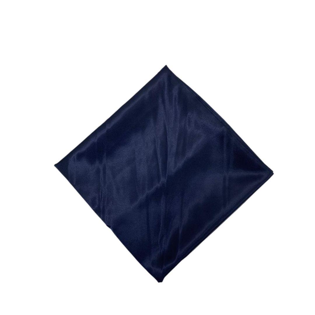 Lenço Cetim Grande Azul Marinho