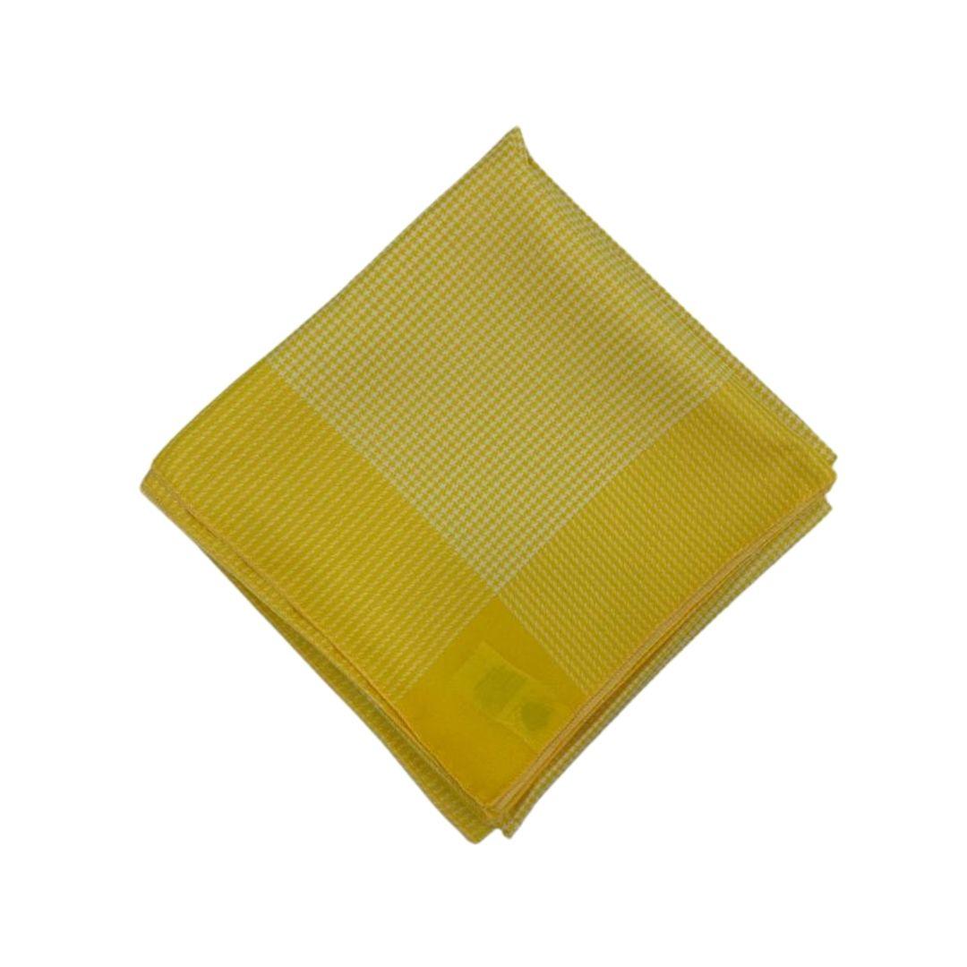 Lenço Médio Carijó Amarelo/Branco