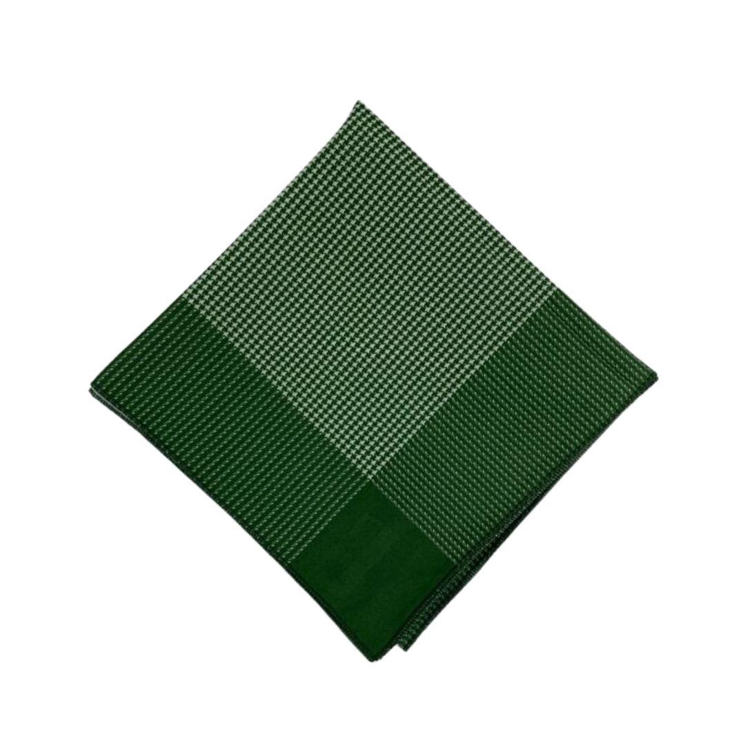 Lenço Pequeno Carijó Verde/Branco