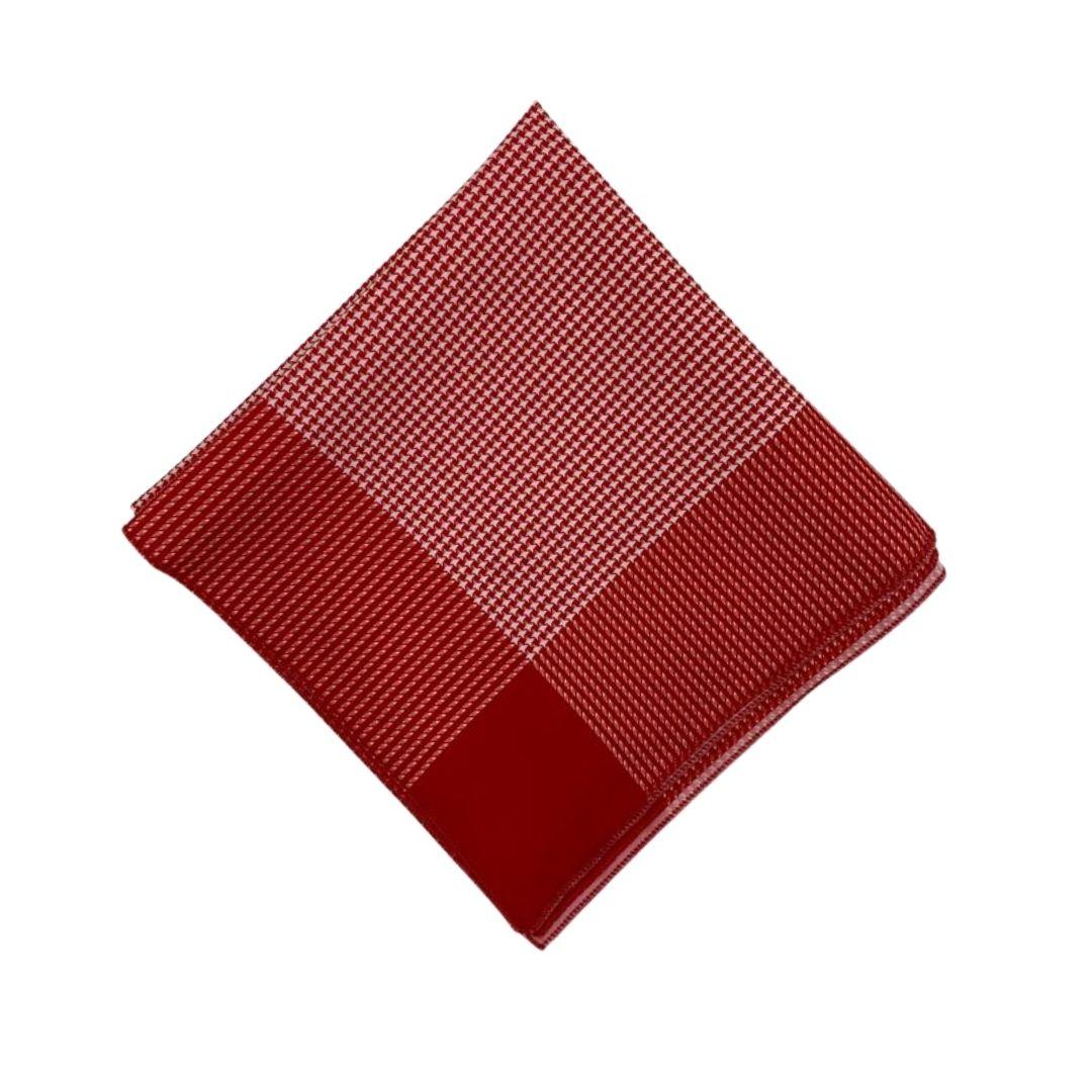 Lenço Pequeno Carijó Vermelho/Branco