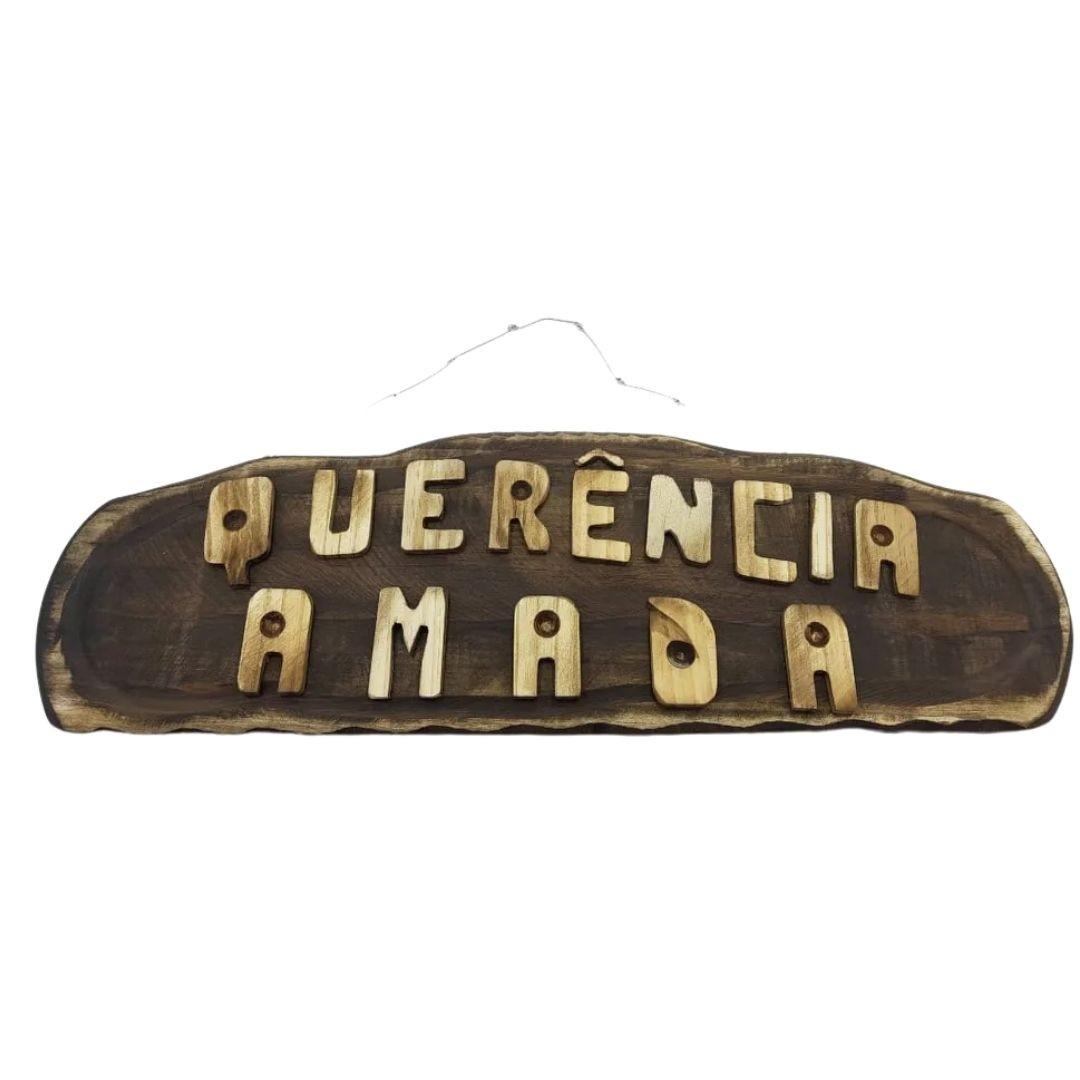 Placa Madeira Decoração