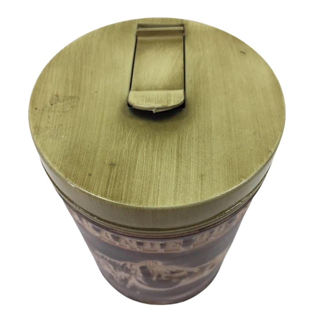 Porta Erva Plástico Bico Dosador Revestido couro 250gr