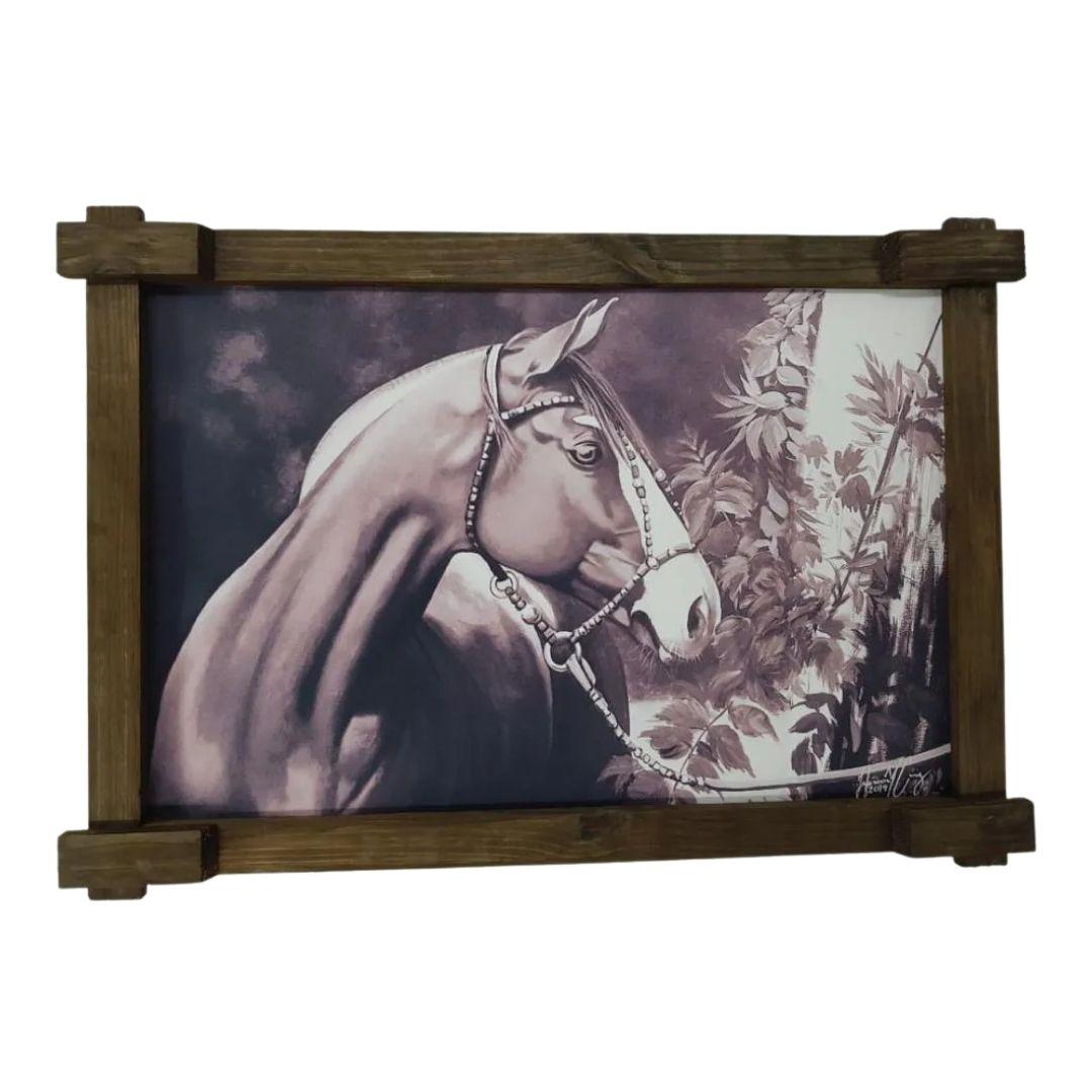Quadro Tela Digitalizado - Cavalo