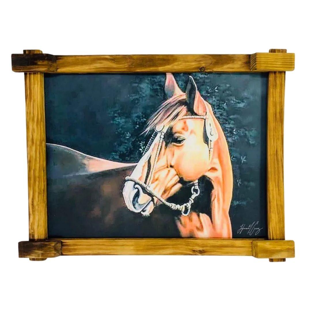 Quadro Tela Digitalizado - Cavalo Perfil
