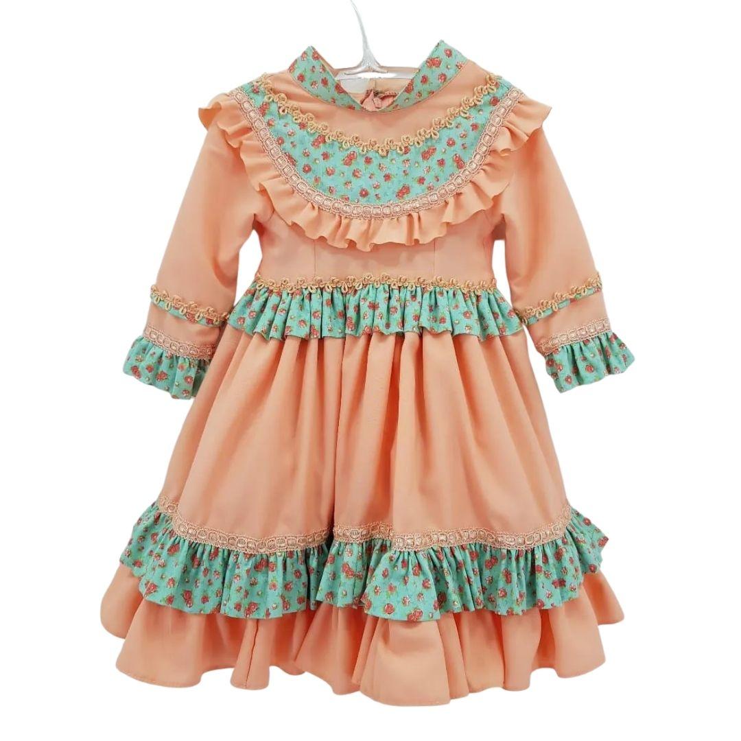 Vestido de Prenda Infantil 06 Meses Criações Darvami