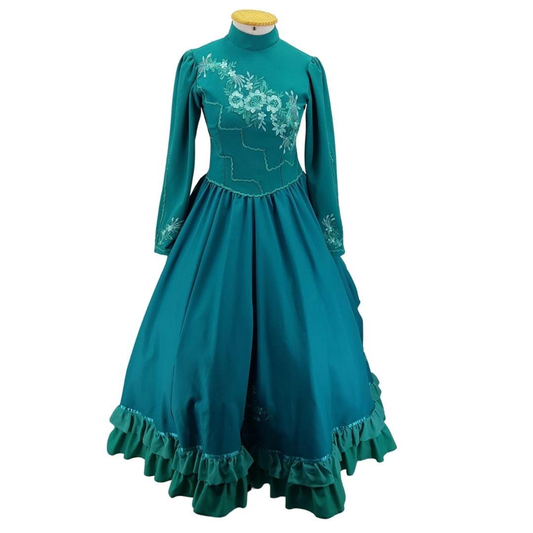 Vestido de Prenda Juvenil 14 Anos Criações Darvami Verde