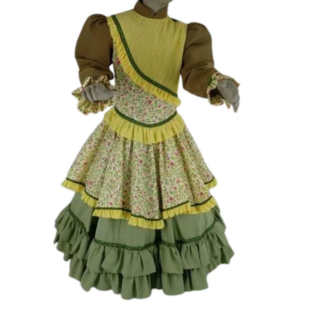 Vestido Infantil Prenda 04 Verde Criações Darvami
