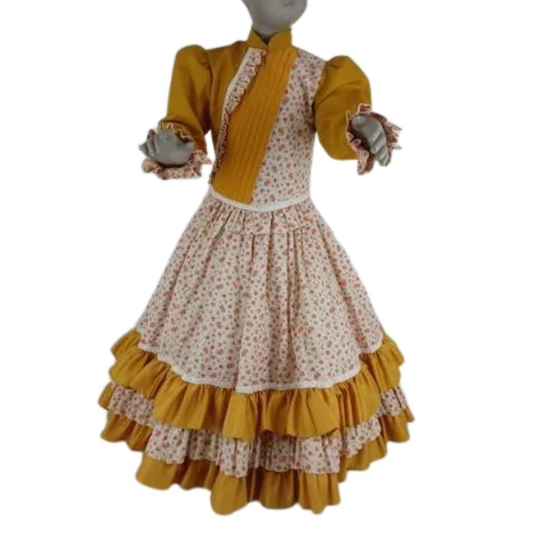 Vestido Infantil Prenda Amarelo 04 Criações Darvami