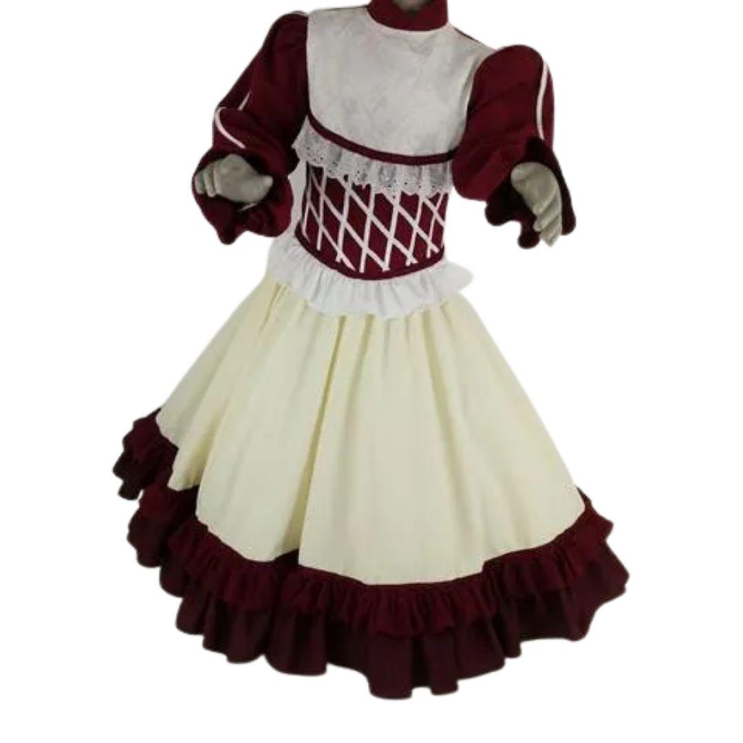Vestido Infantil Prenda Bordô 04 Criações Darvami
