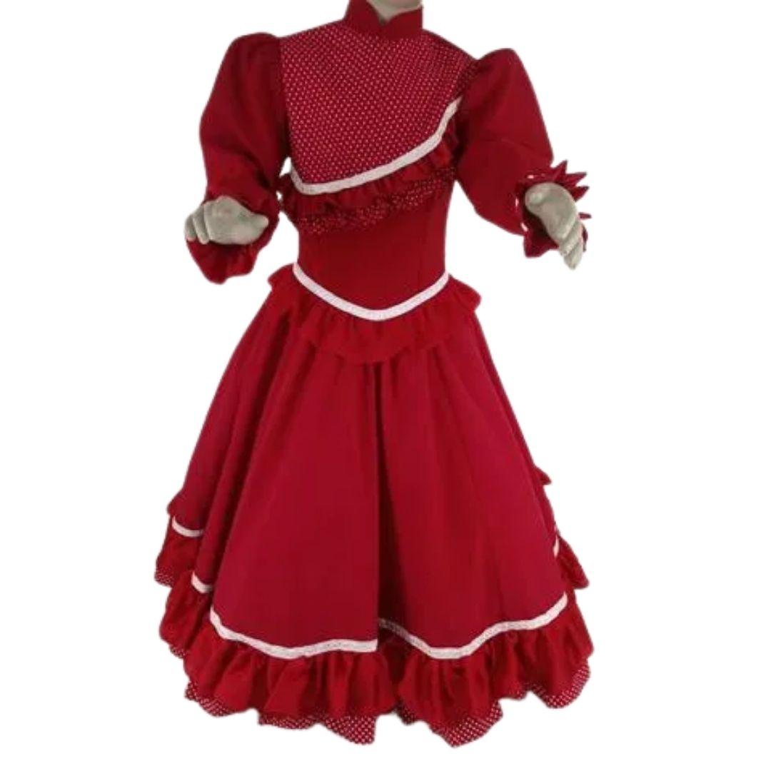 Vestido Infantil Prenda Vermelho 04 Criações Darvami