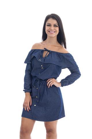 Vestido Jeans Ciganinha Maragata
