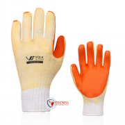 LUVA ALGODAO REVESTIDO LATEX ORANGE VOLK - CA 21367