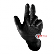 LUVA NITRILICA DESCARTAVEL SUPER GLOVE BLACK CX 50- CA 38645
