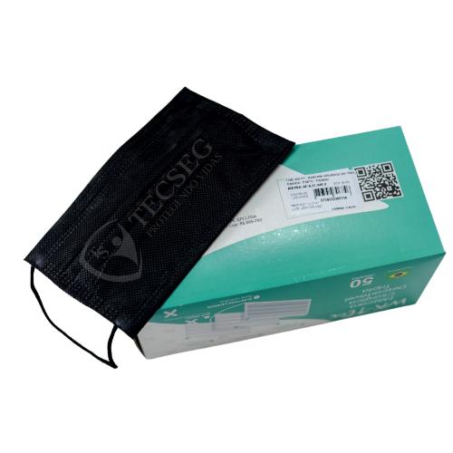 MASCARA DESC WORKFLEX TRIPLA CAMADA TNT PRETA - CX 50 - ANVISA 8.21665-5