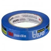 Fita Crepe Blue Tape Scotch 2090 24mm x 50mt 3M
