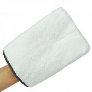 Luva de Microfibra PureStar Branca Macia 15,5x22cm KERS