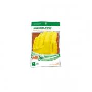 Luva Multiuso Latex Amarela MBLife Tamanho M 1par MEDIX