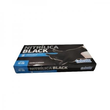 Luva Nitrilica Black Tam-M  20un CELESTE