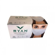 Máscara Tripla com Clipe Nasal Descartável CX 50un RYAN