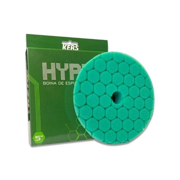 Boina de Espuma Agressiva Verde Hyper 5pol KERS